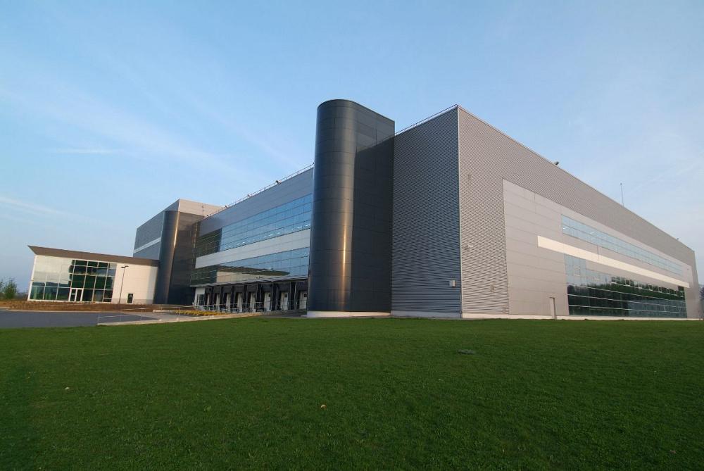 Construction de l'usine de production et site logistique Clarins à Amiens Glisy