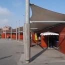 Création de nouvelles aubettes à poissons aménagement place du Minck à Dunkerque