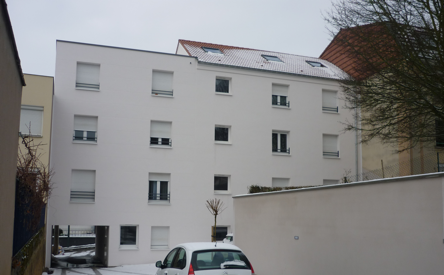 Construction d'un immeuble de 7 logements à Queuleu