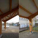 Construction d'un préau à l'école élémentaire de Volkrange